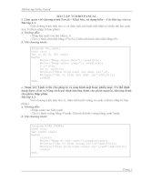 Một số bài tập pascal cơ bản lớp 8