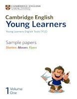 Cambridge English Young Learners Sample papers Starters Movers Flyers