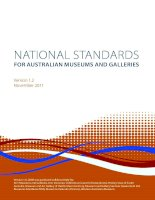 NATIONAL STANDARDS FOR AUSTRALIAN MUSEUMS AND GALLERIES 2011