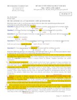 Hướng dẫn giải chi tiết đề thi đại học môn tiếng Anh khối D năm 2012