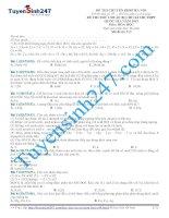 Bộ đề thi thử THPT quốc gia môn hóa các trường chuyên  có lời giải chi tiết từng câu