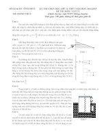 TUYỂN tập đề THI học SINH GIỎI vật lý 11 các TỈNH có đáp án