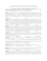 BỘ đề THI THỬ THPT QUỐC GIA môn vật lý năm 2015