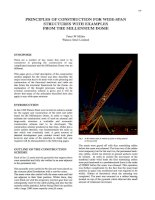 KẾT CẤU MỚI   PRINCIPLES OF CONSTRUCTION FOR WIDESPAN STRUCTURES FROM THE MILLENNIUM DOME