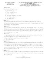 Lời giải chi tiết Đề thi HSG Hóa 10 Vĩnh Phúc 2011
