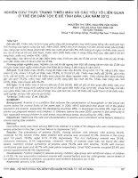 Nghiên cứu tình trạng thiếu máu và các yếu tố liên quan ở trẻ em dân tộc Ê Đê tỉnh Đắc Lắc năm 2012