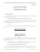 TÍNH TOÁN THIẾT KẾ KẾT CẤU BẰNG CHƯƠNG TRÌNH SAP2000 -PHỤ LỤC B3 GIAO DIỆN ĐỒ HỌA- TRÌNH ĐƠN EDIT