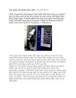 Tìm hiểu về nhiên liệu LPG