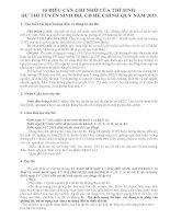 10 ĐIỀU CẦN GHI NHỚ CỦA THÍ SINH  DỰ THI TUYỂN SINH ĐH, CĐ HỆ CHÍNH QUY NĂM 2011