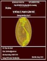 Slide Địa 12 bài VỊ TRÍ ĐỊA LÝ, PHẠM VI LÃNH THỔ _ Vân Khánh