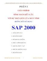 Phần I - Giáo trình tính toán kết cấu với sự trợ giúp của máy tính, hướng dẫn sử dụng SAP2000 -Bài toán dầm liên tục