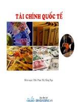 Bài giảng Tài chính Quốc tế- Th.s Phan Thị Hằng Nga