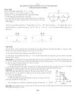 BỘ đề THI học SINH GIỎI môn vật lý 11 các trường có đáp án
