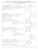 Ôn tập Hình 9 HK II_10-11_Có hướng dẫn giải
