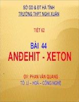 bài 44: andehit-xeton