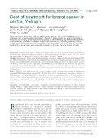 Nghiên cứu về chi phí cho điều trị bệnh ung thư vú ở miền trung Việt Nam