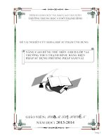 ĐỀ TÀI NGHIÊN CỨU KHOA HỌC SƯ PHẠM ỨNG DỤNG NÂNG CAO HỨNG THÚ MÔN  GDCD LỚP 7A4 TRƯỜNG THCS THẠNH BÌNH  BẰNG BIỆN PHÁP SỬ DỤNG PHƯƠNG PHÁP SẮM VAI