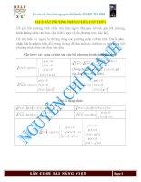 Chuyên đề bất phương trình vô tỉ