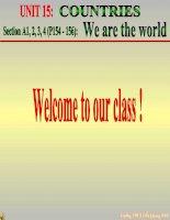 Bài giảng điện tử tham khảo thao giảng Anh 6 Unit 15 Countries (2)