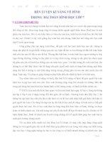 ĐỀ TÀI RÈN LUYỆN KĨ NĂNG VẼ HÌNH  TRONG  BÀI TOÁN HÌNH HỌC LỚP 7
