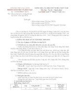 Hướng dẫn kiểm tra HK2 HN 2010 - 2011