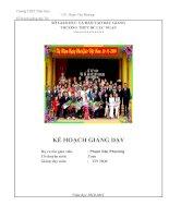 ke hoach giang day tin hoc năm 2010 -2011