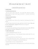 Đề cương ôn tập Ngữ văn 9 Học kì II