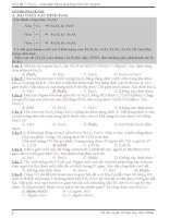 Bài tập trắc nghiệm chuyên đề hóa học oxit