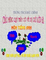 Bài giảng điện tử tham khảo thao giảng, thi GV Anh 6 Unit 8 Out and about (3)