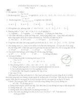 kiểm tra học kì II toán 9 có ma trận và đáp án