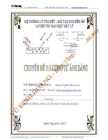 Chuyên đề 7 luyện thi đại học lượng tử ánh sáng