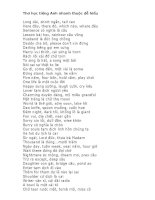 Học Tiếng Anh qua thơ