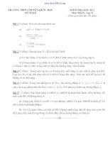 đề thi học kì 1 toán 11 có đáp án