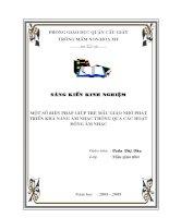 skkn một số BIỆN PHÁP GIÚP TRẺ mẫu GIÁO NHỠ PHÁT TRIỂN KHẢ NĂNG âm NHẠC THÔNG QUA các HOẠT ĐỘNG âm NHẠC trường mầm non HOÀNG NAM