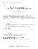 GA văn minh thanh lich lớp 8, bài 2