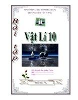 Tuyển tập Bài tập vật lí 10