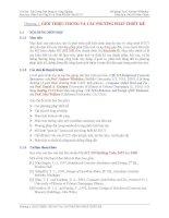 Phân tích ứng xử và thiết kế kết cấu BTCT - Chương 1 Giới thiệu chung và các phương pháp thiết kế