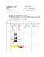 Giáo án điện tử tham khảo thao giảng, thi GV Anh 6 Unit 7 Your house (3).DOC