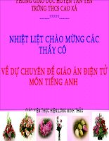 Bài giảng điện tử tham khảo thao giảng, thi GV Anh 6 Unit 8 Out and about (2)