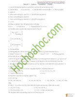 Bài tập hidrocacbon không no có đáp án