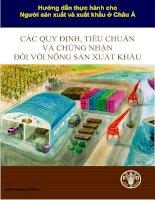 Hướng dẫn thực hành cho người sản xuất và xuất khẩu ở châu Á