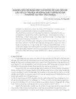 báo cáo khoa học nông nghiệp NGHIÊN cứu sử DỤNG một số GIỐNG dê CAO sản để cải TIẾN DI TRUYỀN và NĂNG SUẤT GIỐNG dê địa PHƯƠNG tại TỈNH TRÀ VINH1