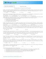 Luyện Đề Hóa Học THPT Quốc Gia 2015 Có đáp án Đề Số 10