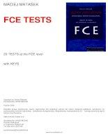 20 TESTS at the FCE level with key (20 đề tiếng anh luyện b2 châu âu)