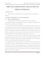THIẾT KẾ NHÓM PISTON-THANH TRUYỀN ĐỘNG CƠ XZ4-0112