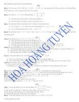 một số đề ôn tập hình học chương III lớp 10