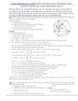 tuyển tập 80 bài toán hình học lớp 9 có đáp án (có vẽ hình)