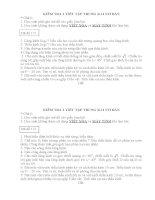 Đề + đáp án kiểm tra 1 tiết K.11 cơ bản.