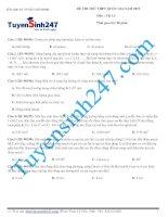 Đề thi thử THPT quốc gia môn Vật lý Sở GD và ĐT TP Hồ Chí Minh năm 2015