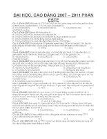 Một số bài tập ôn thi đh về ESTE lớp 12
